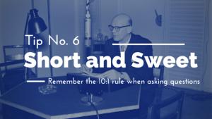Interview Tips: 10:1 Rule MediaBoss