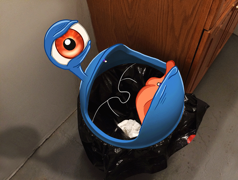 MediaBoss Monster Trash Can