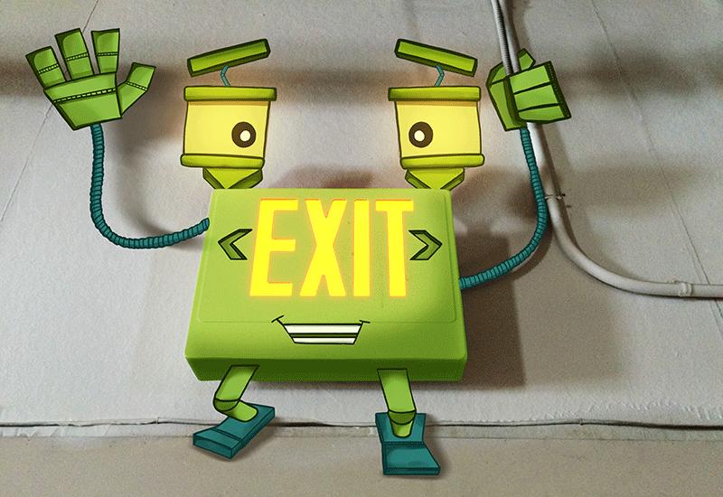 MediaBoss Monster Exit Sign