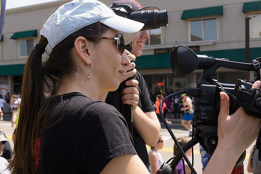 Monica Duque Camera Op Boston Marathon