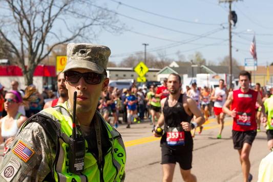 National Guard 6 Mile Moment Boston Marathon